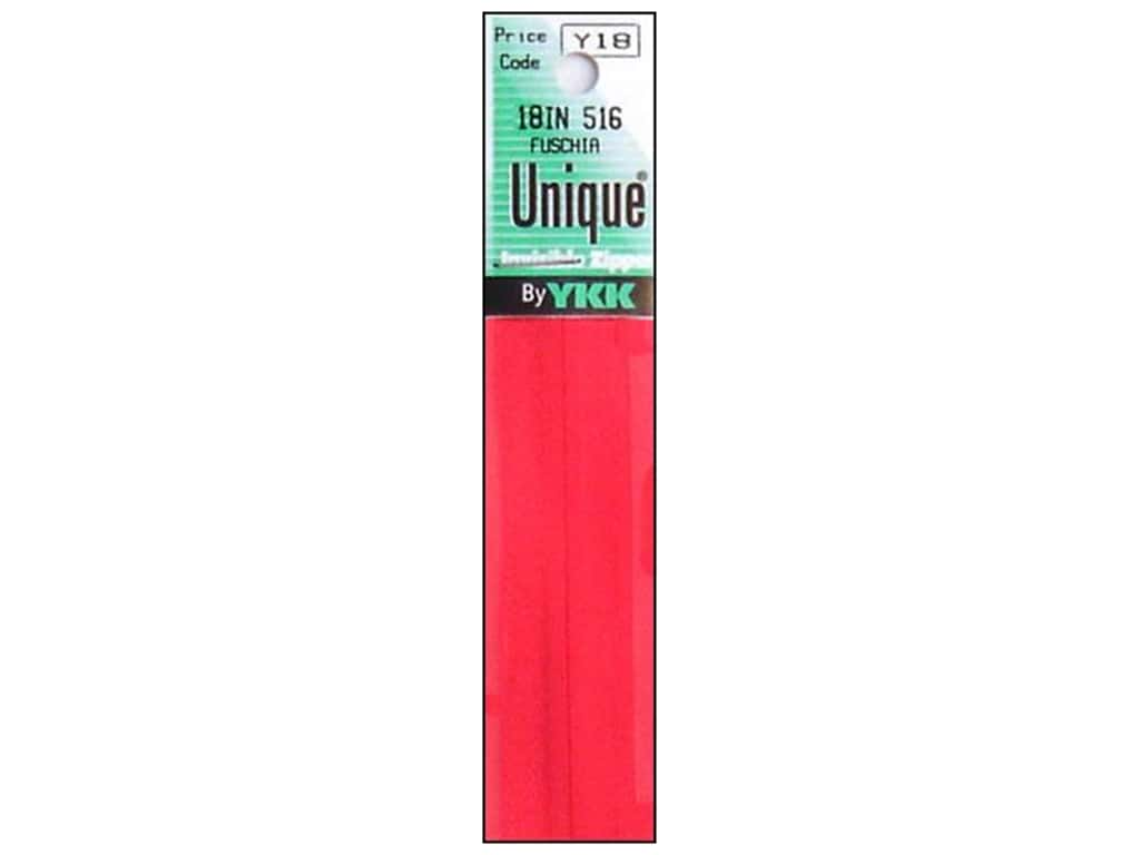 YKK Unique Invisible Zipper 18 in. Fuschia