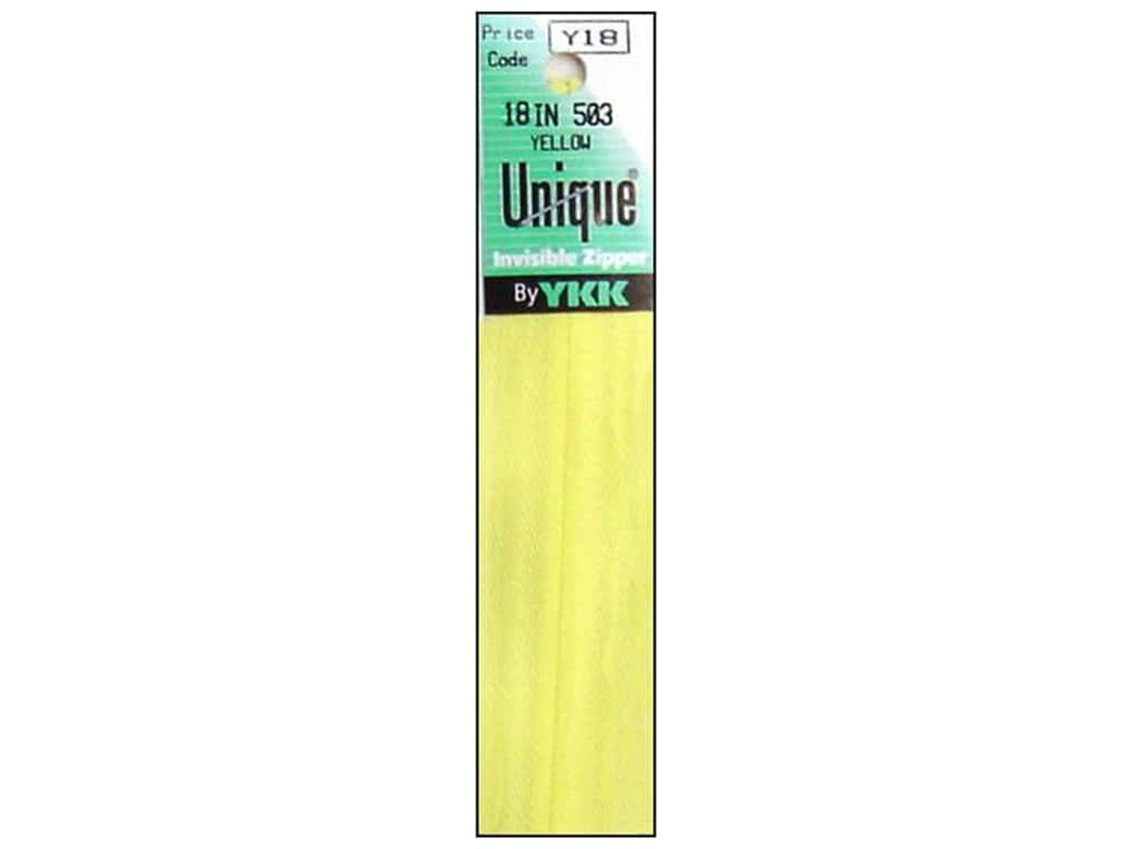 YKK Unique Invisible Zipper 18 in. Yellow