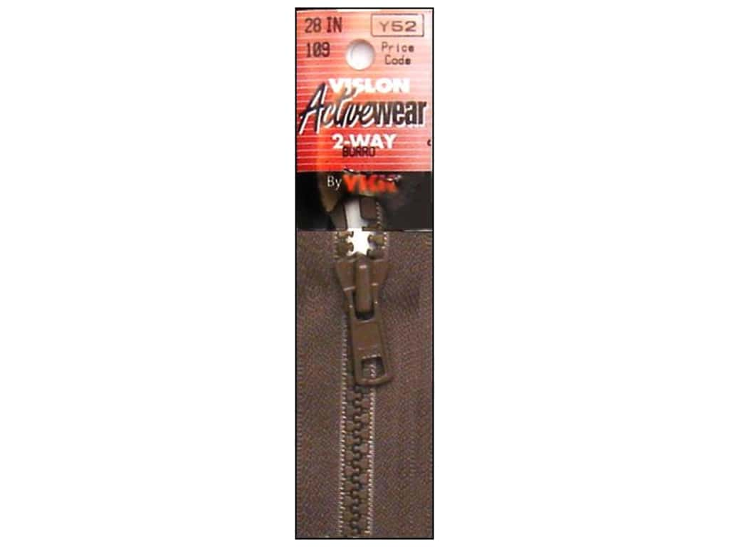 YKK Vislon 2-Way Separating Zipper 28 in. Burro