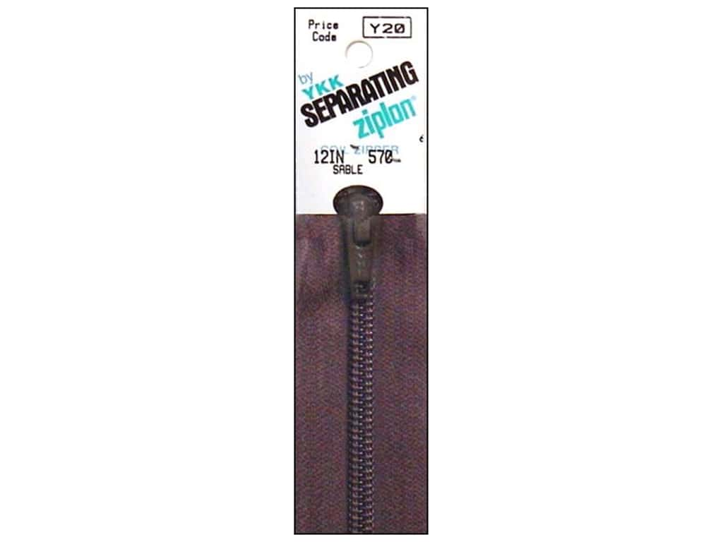 YKK Ziplon 1-Way Separating Zipper 12 in. Sable