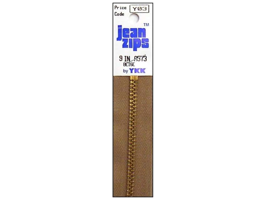 YKK #4.5 Brass Jean Zipper 9 in. #573 Beige