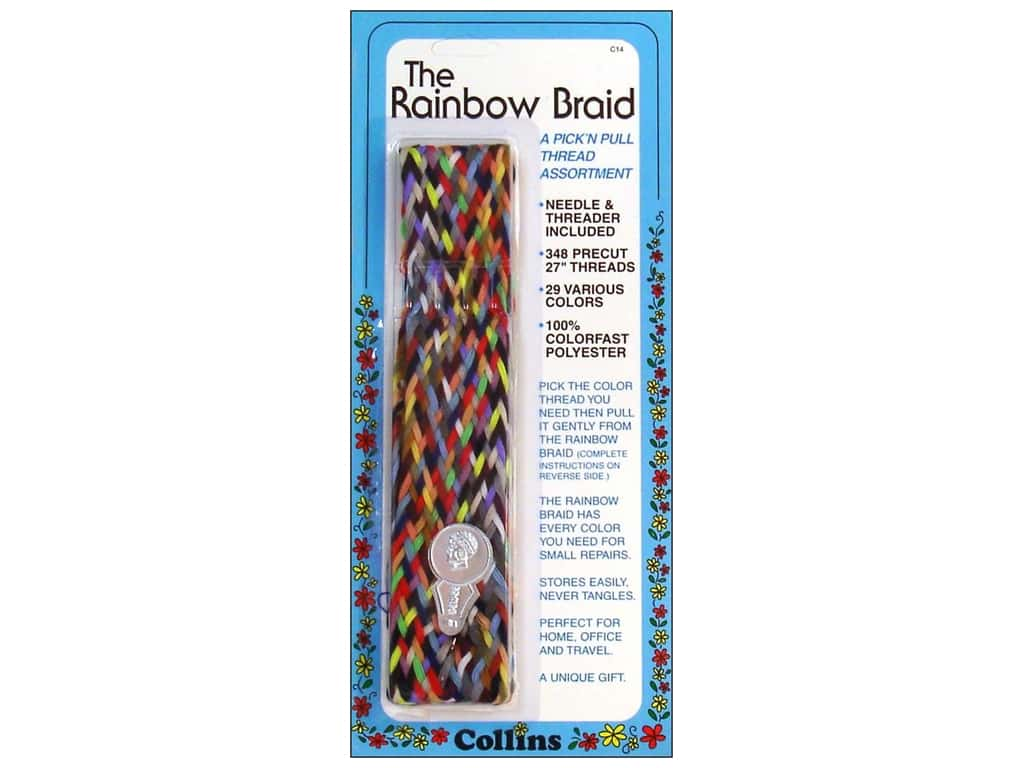 Rainbow Braid Thread by Collins 1 in. Flat