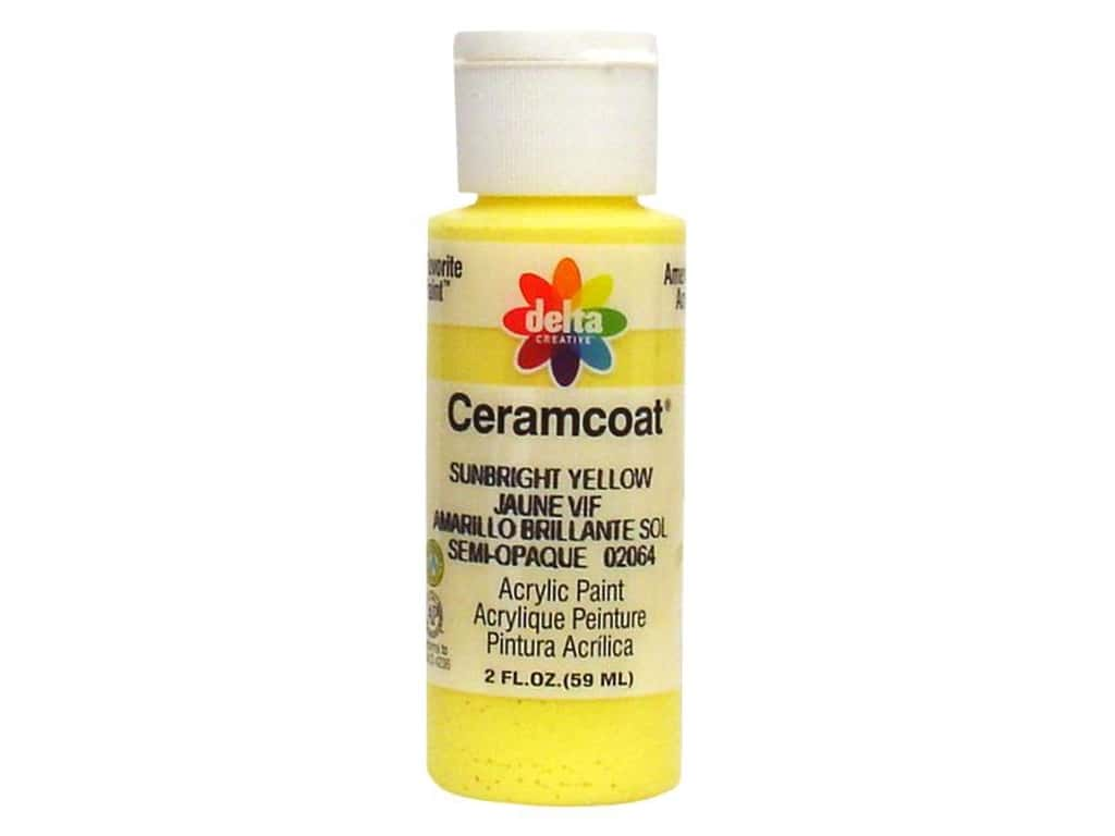 Delta Ceramcoat Acrylic Paint 2 oz. #2064 Sunbright Yellow