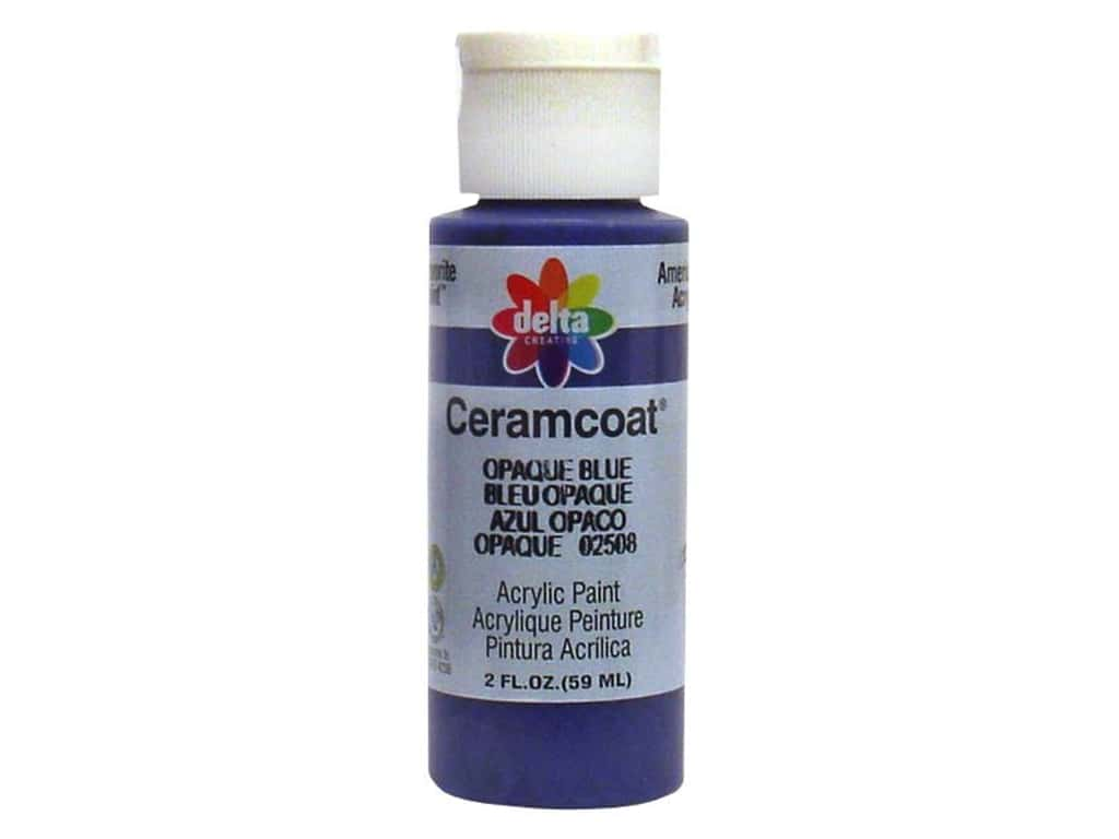 Ceramcoat Acrylic Paint by Delta 2 oz. #2508 Opaque-Blue