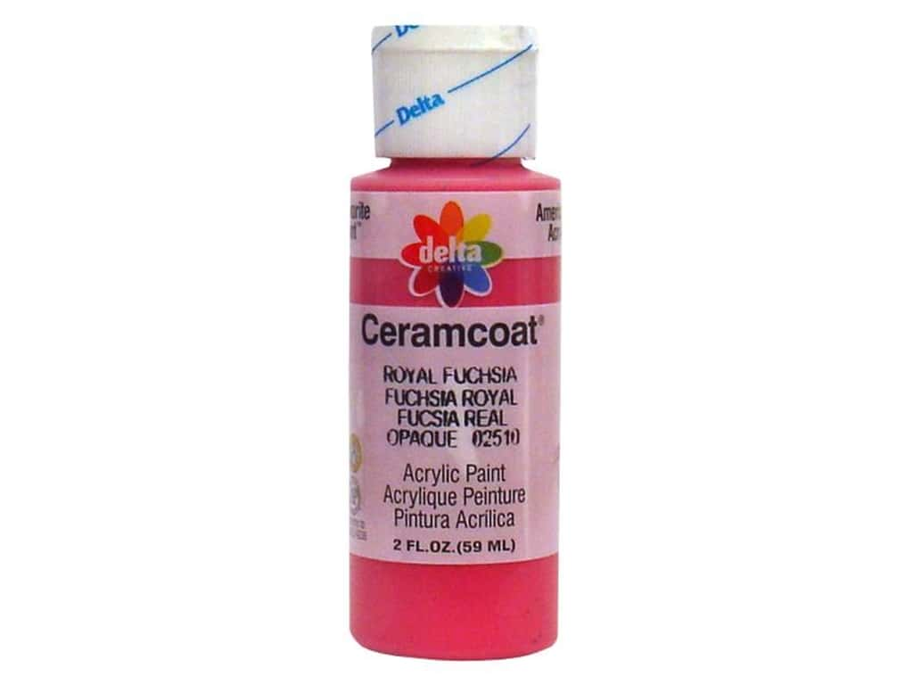 Ceramcoat Acrylic Paint by Delta 2 oz. #2510 Royal Fuchsia