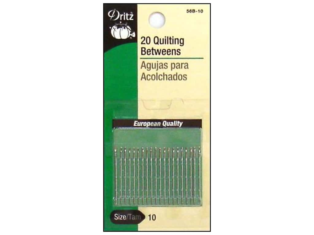 Dritz Qulting Needles Betweens Size 10 20 pc.