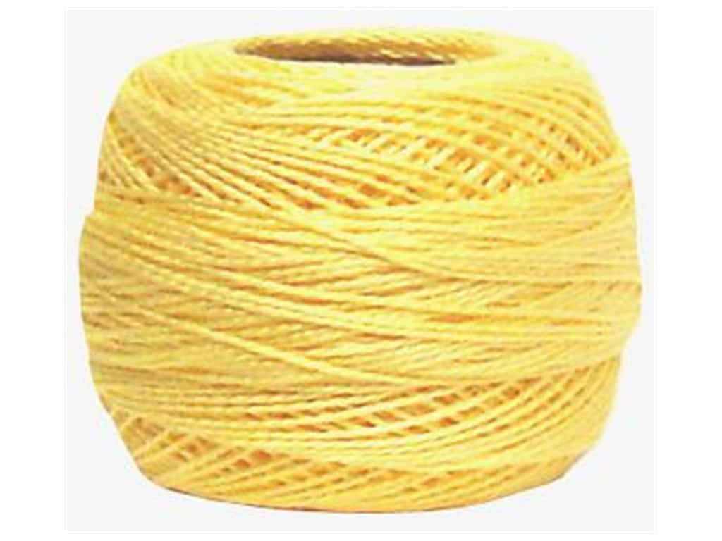 DMC Pearl Cotton Ball Size 8 #0745 Light Pale Yellow (10 balls)
