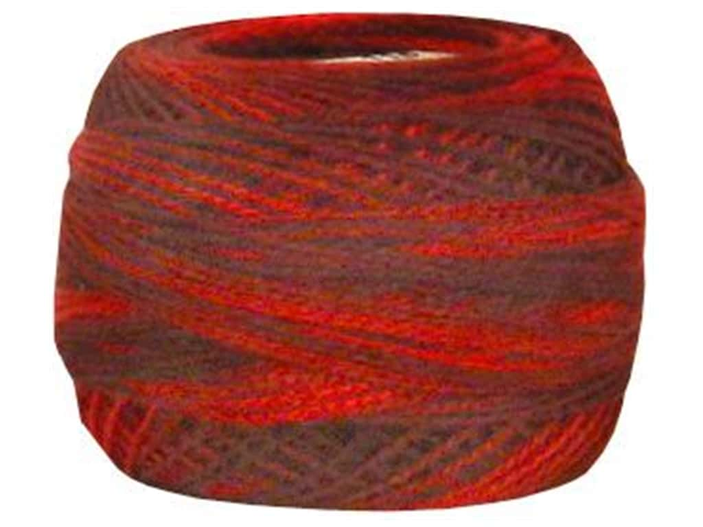 DMC Pearl Cotton Ball Size 8 #0115 Variegated Garnet (10 balls)