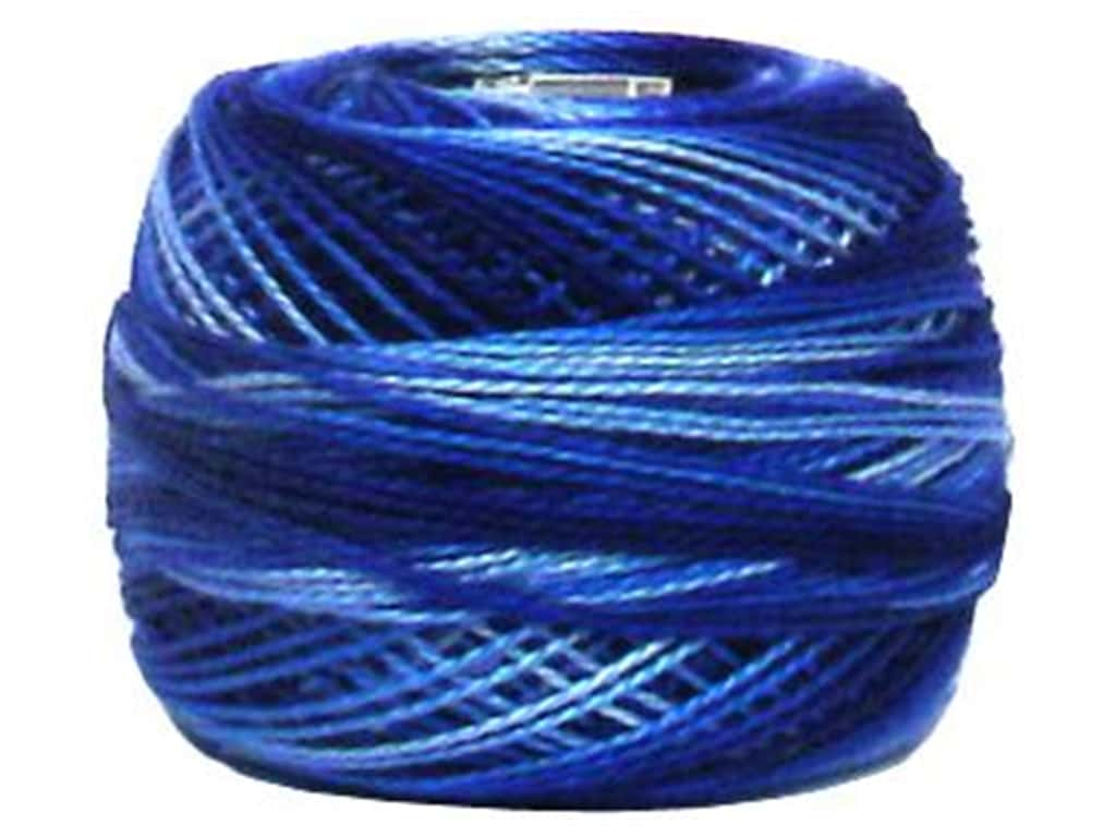 DMC Pearl Cotton Ball Size 8 #0121 Variegated Delft Blue (10 balls)