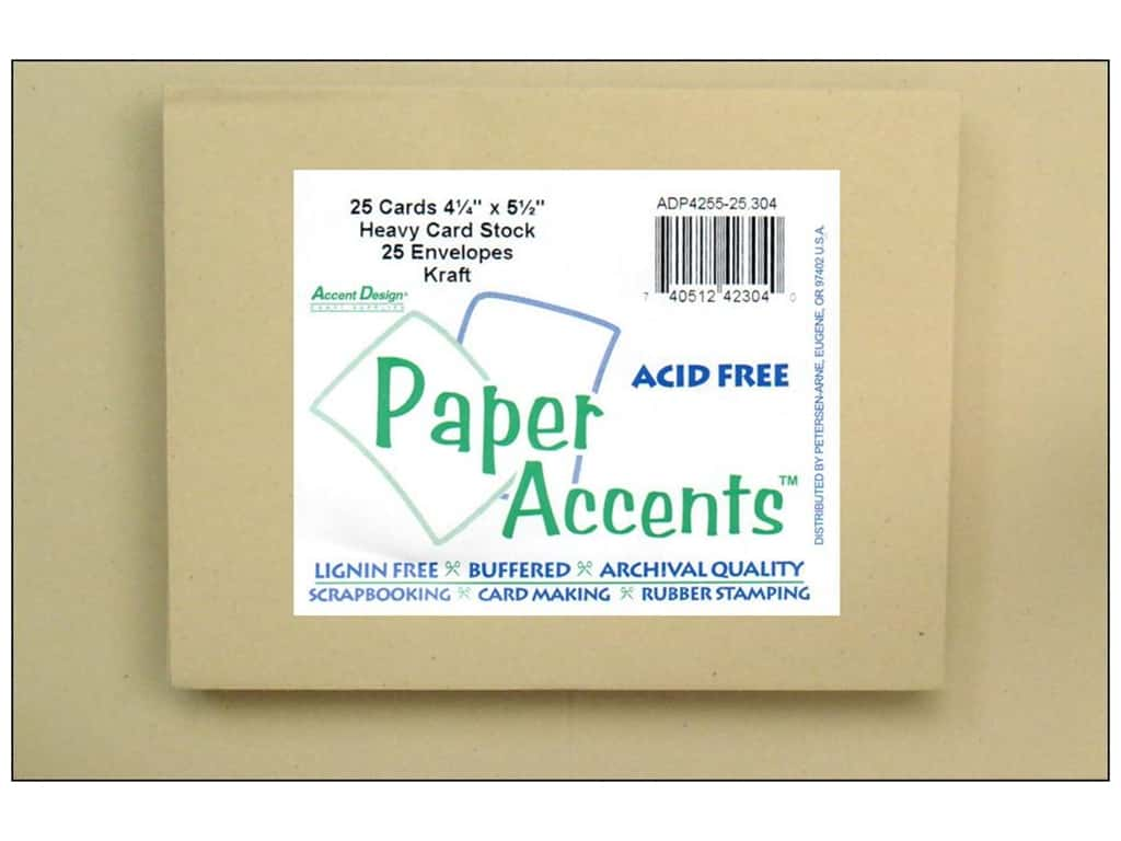 Paper Accents 4 1/4 x 5 1/2 in. Blank Card & Envelopes 25 pc. #304 Kraft