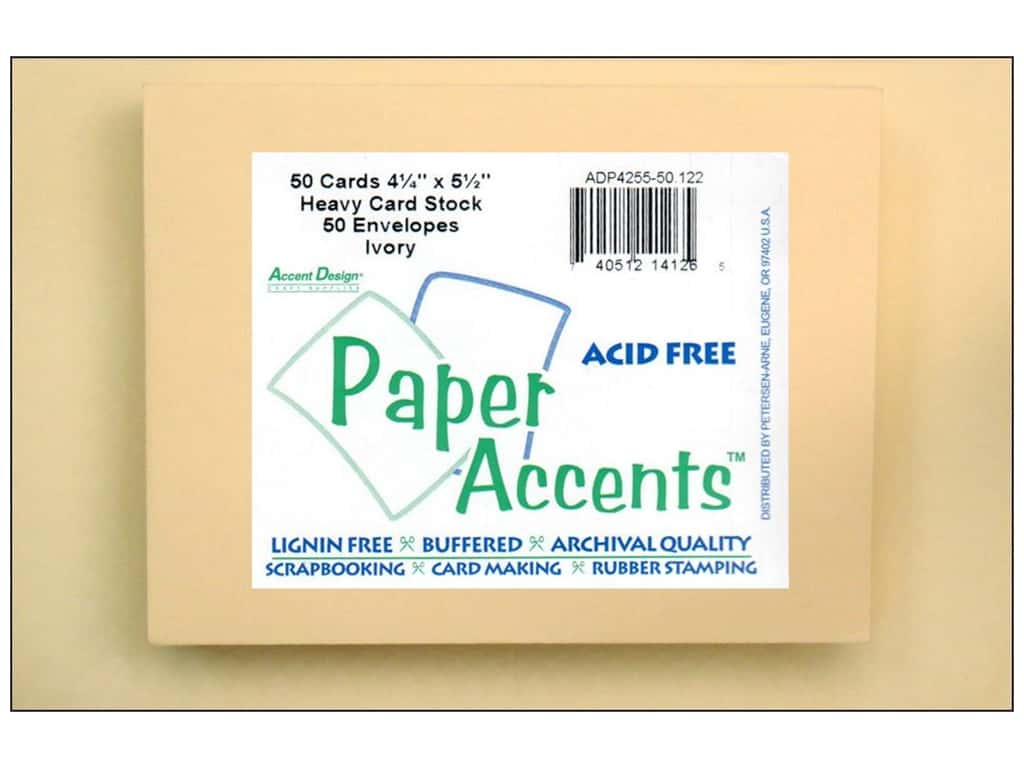 Paper Accents 4 1/4 x 5 1/2 in. Blank Card & Envelopes 50 pc. Ivory