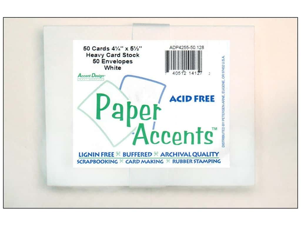 Paper Accents 4 1/4 x 5 1/2 in. Blank Card & Envelopes 50 pc. White