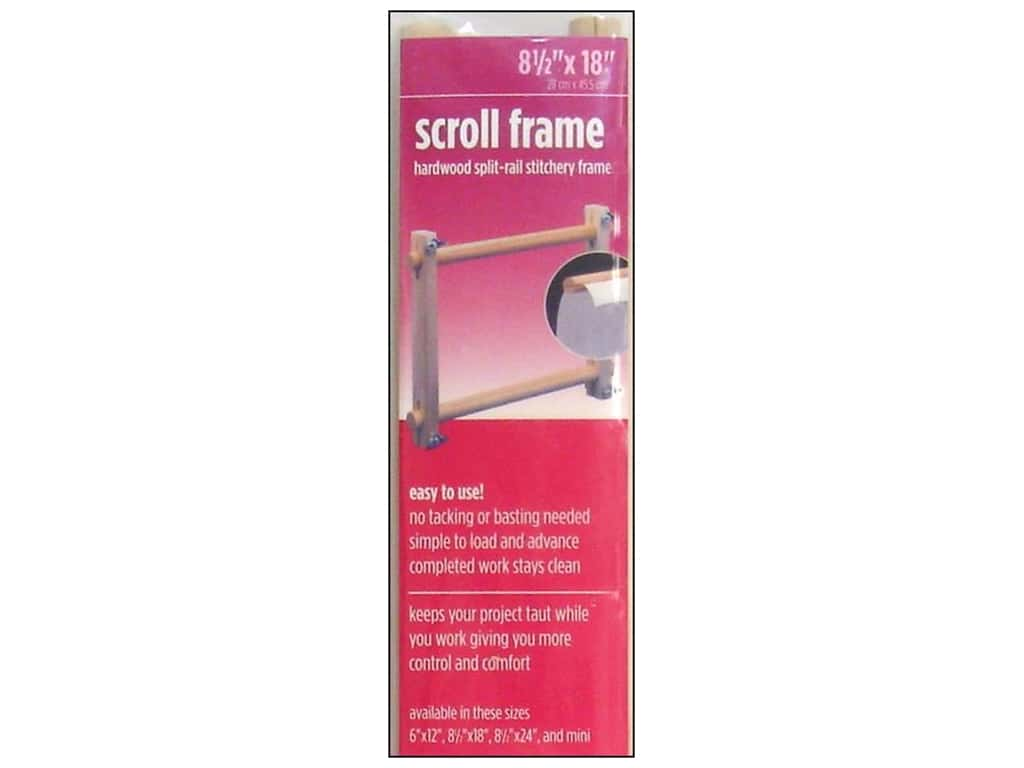 F.A. Edmunds Split Rail Scroll Frame 8 1/2 x 18 in.