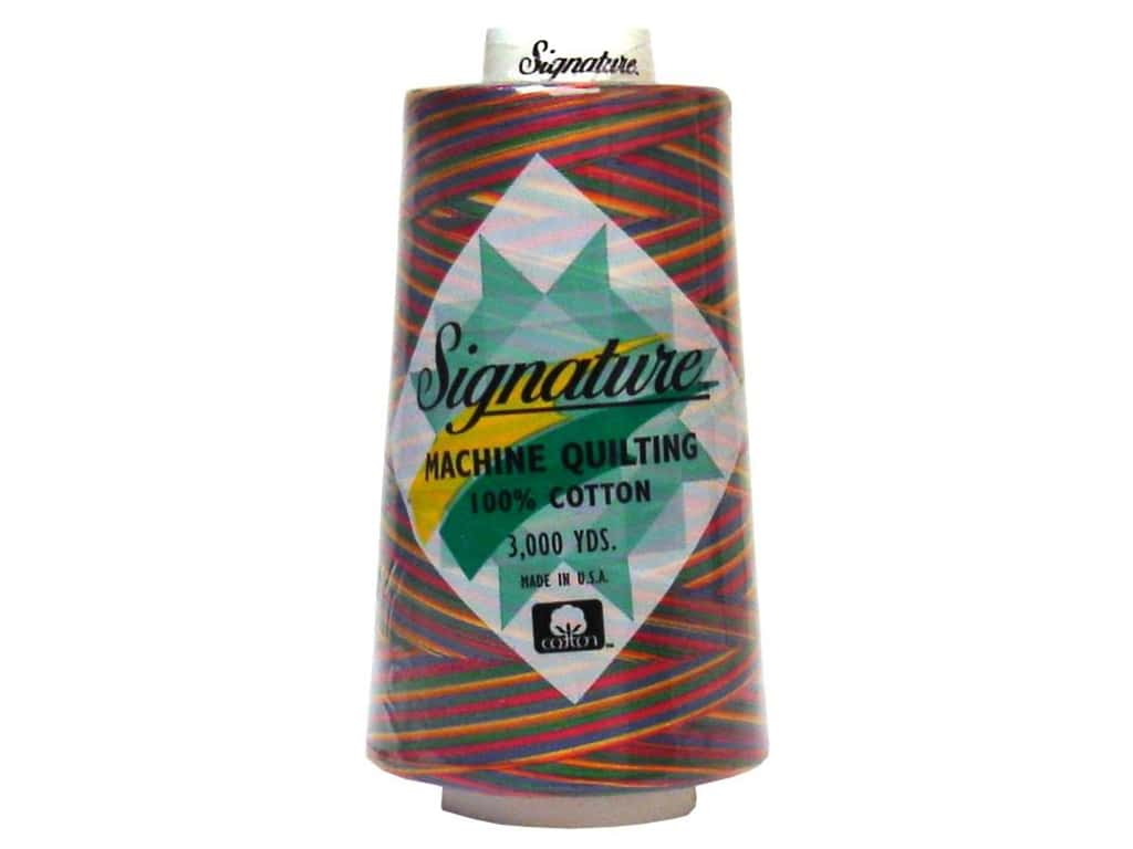 Signature 100% Cotton Thread 3000 yd. #M11 Variegated Tie-Dye