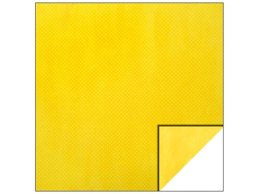 Bo Bunny 12 x 12 in. Paper Double Dot Collection Buttercup Dot (25 sheets)