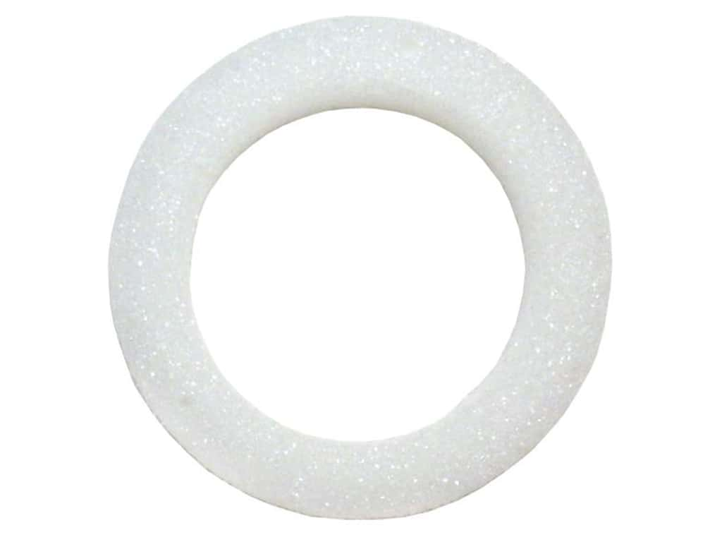 FloraCraft Styrofoam Wreath Flat Ring 4 1/2 in. White 1 pc.