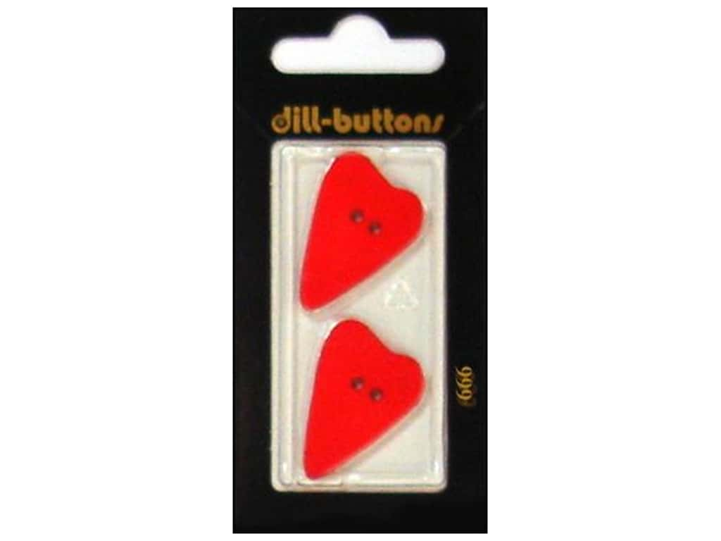 Dill 2 Hole Buttons 1 1/8 in. Red Heart #666 2 pc.