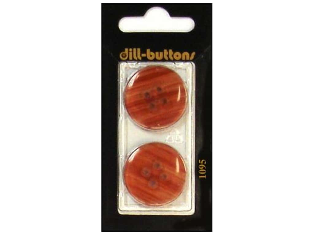 Dill 4 Hole Buttons 1 in. Rust #1095 2 pc.