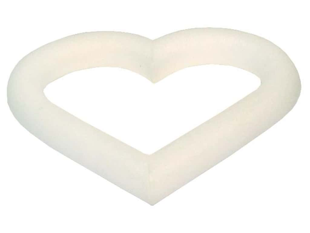FloraCraft Extruded Styrofoam Heart 6 x 3/4 in.