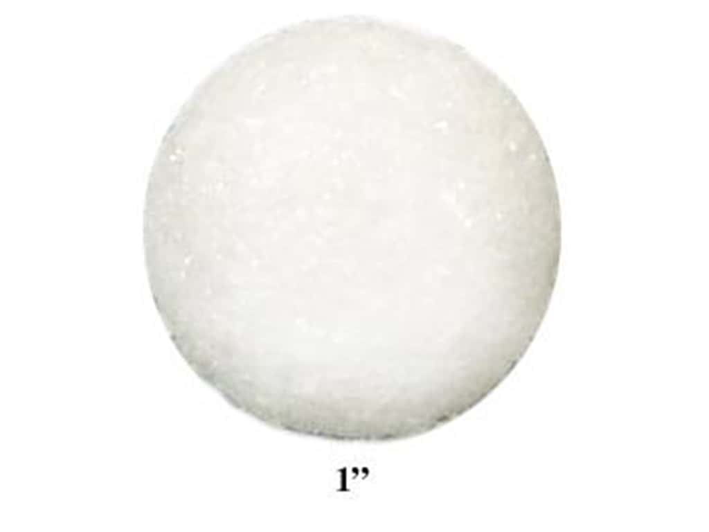 FloraCraft Styrofoam Ball Bag 1 in. White (144 pieces)