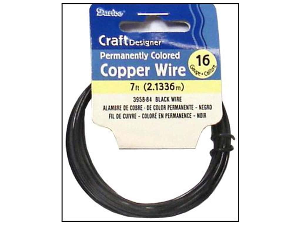 Darice Copper Craft Wire 16 ga. 7 ft. Black