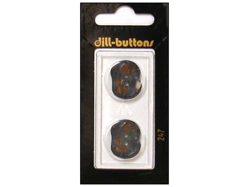 Dill 2 Hole Buttons 13/16 in. Grey/Burgundy #247 2 pc.