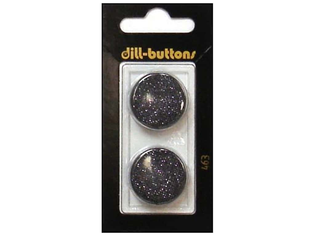 Dill Shank Buttons 7/8 in. Black #463 2 pc.