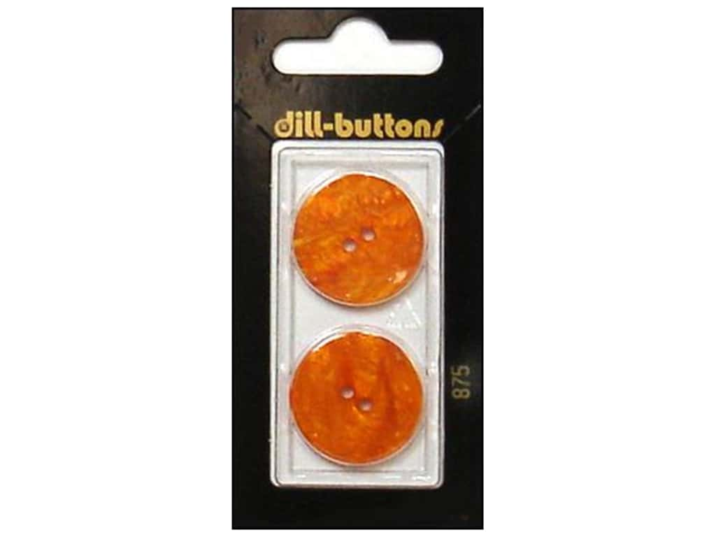 Dill 2 Hole Buttons 7/8 in. Orange #875 2 pc.