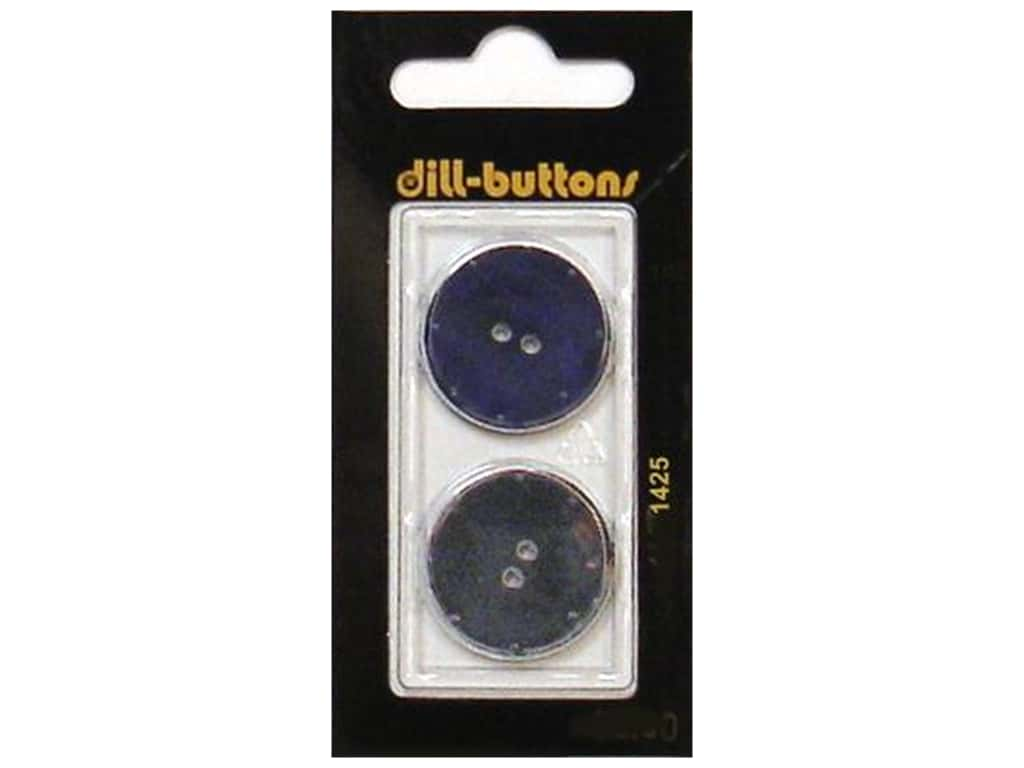 Dill 2 Hole Buttons 7/8 in. Navy #1425 2 pc.