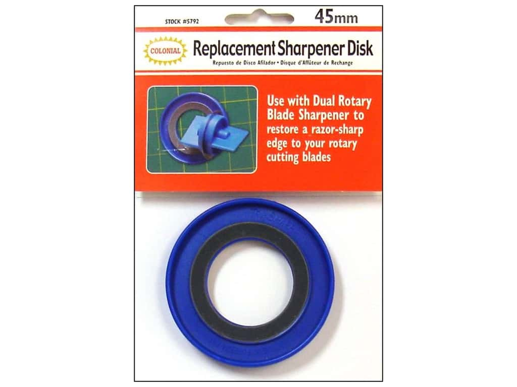 Colonial Needle Rotary Blade Sharpener Replacement Disks - 45 mm