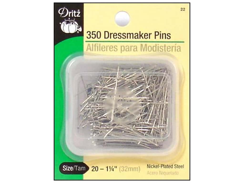 Dressmaker Pins by Dritz Size 20 350 pc.