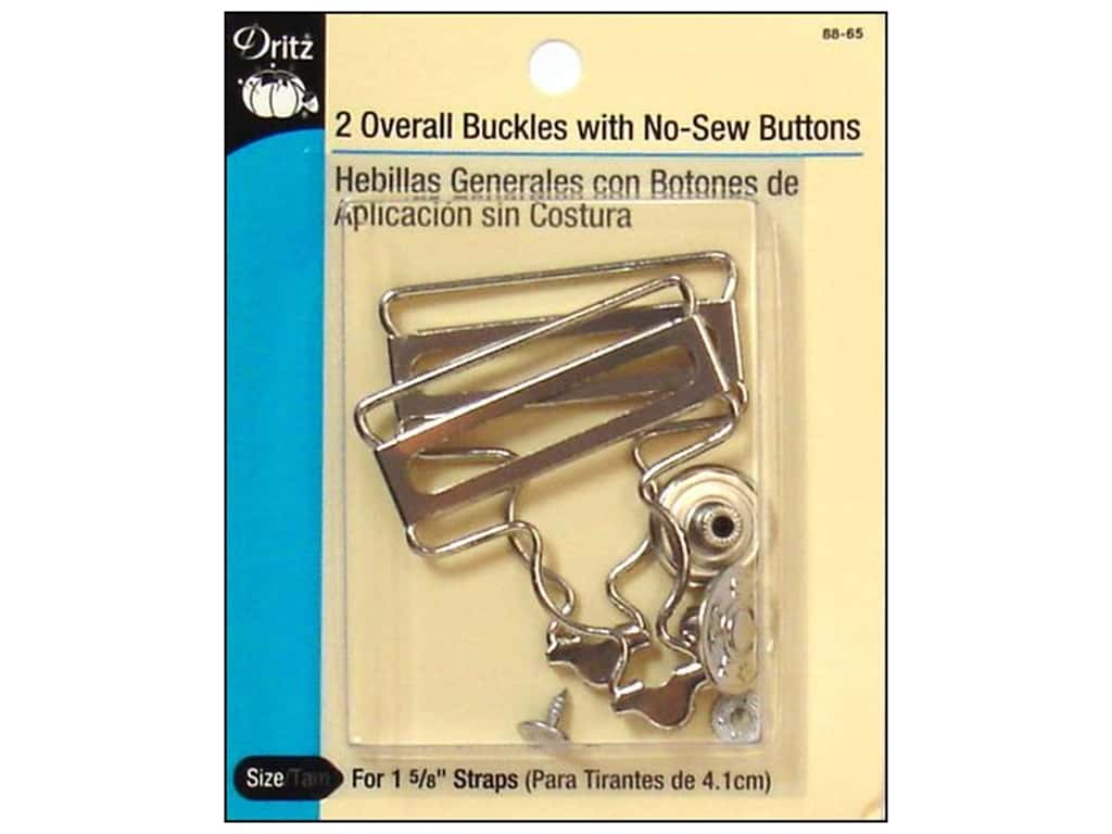Overall Buckle with Button by Dritz 1 5/8 in. Nickel
