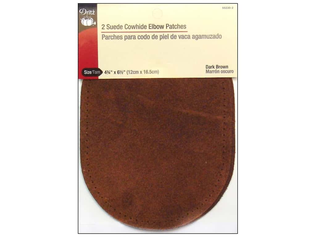 Dritz Suede Elbow Patches - Dark Brown 2 pc.