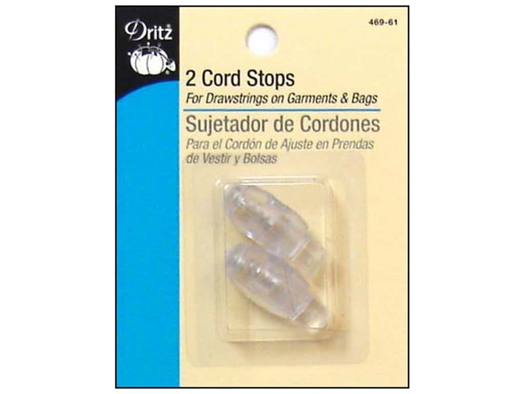 Cord Stops by Dritz 3/4 in. Clear 2pc