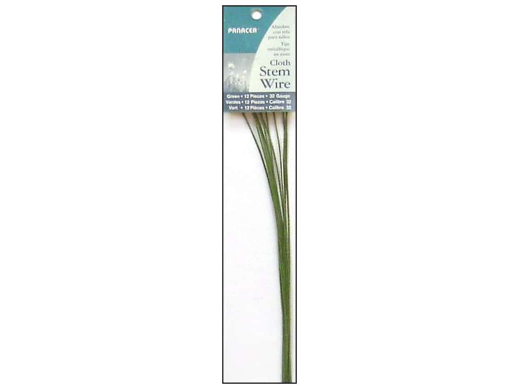 Panacea Cloth Stem Wire 18 in. 32-Gauge 12 pc. Green