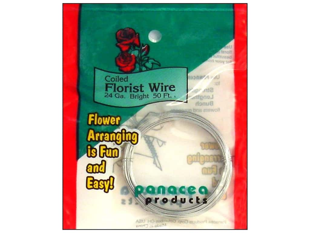 Panacea Coiled Florist Wire 24-Gauge 50 ft. Bright