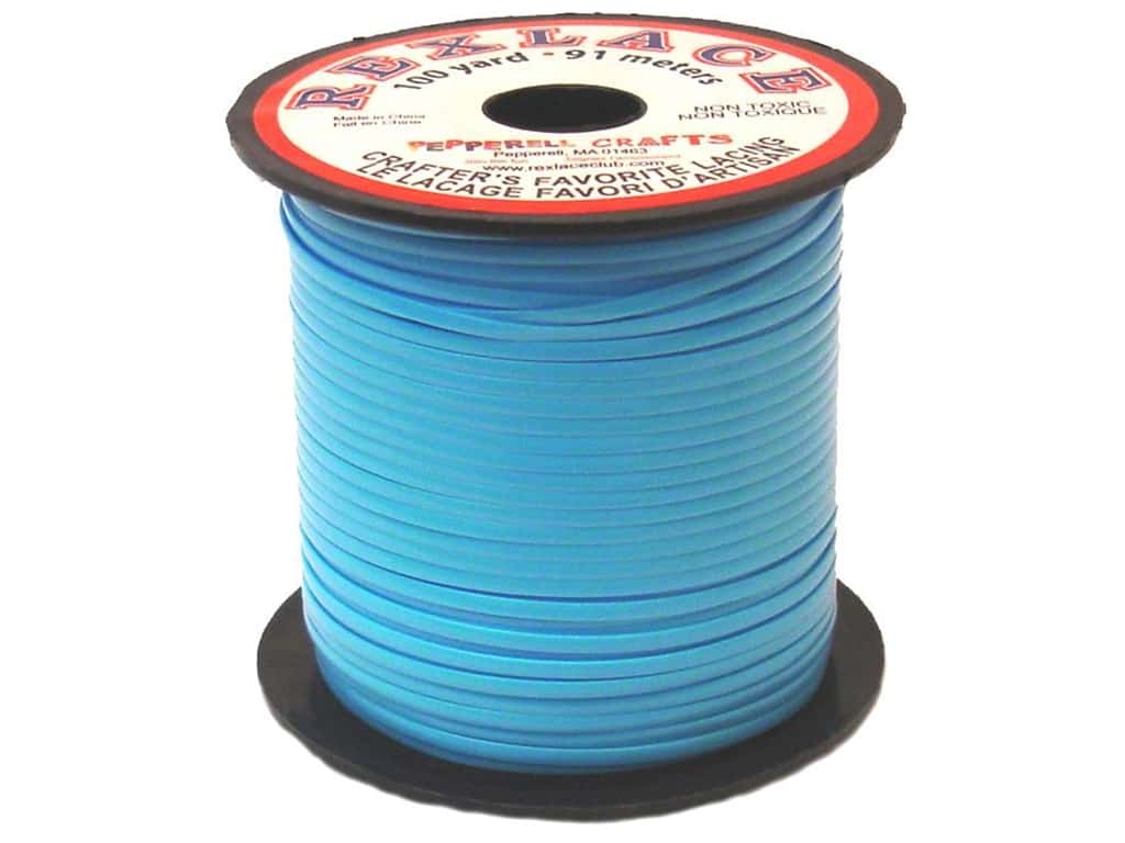 Pepperell Rexlace Craft Lace 100 yd. Baby Blue