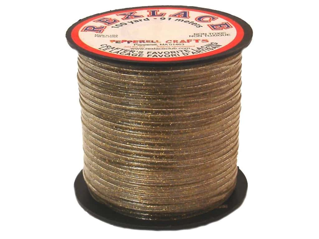 Pepperell Rexlace Craft Lace 100 yd. Gold Sparkle