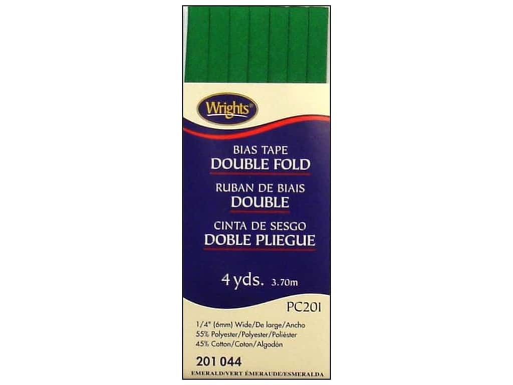 Wrights Double Fold Bias Tape 4 yd. Emerald