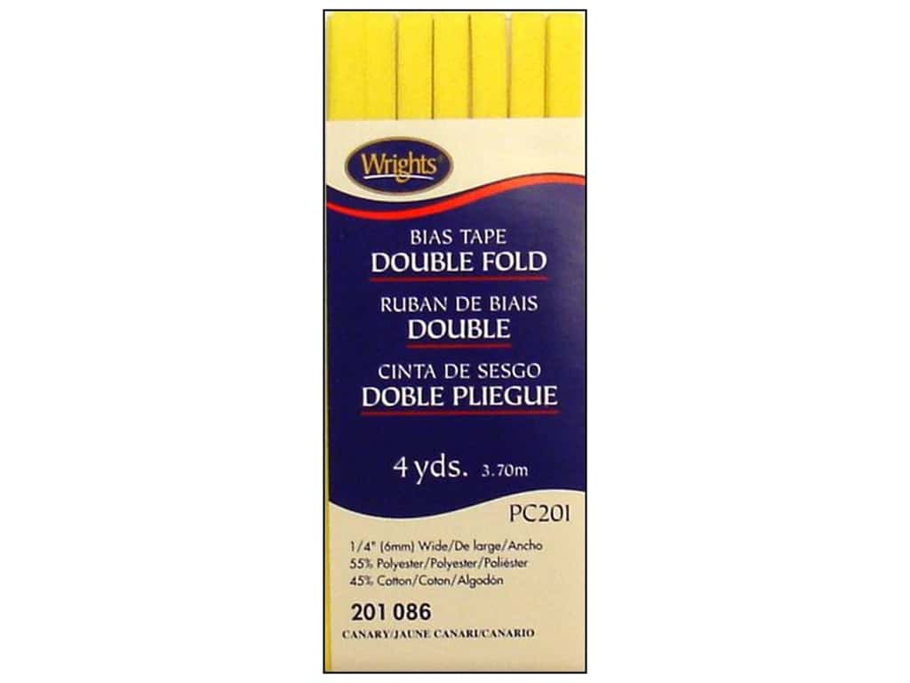 Wrights Double Fold Bias Tape 4 yd. Canary