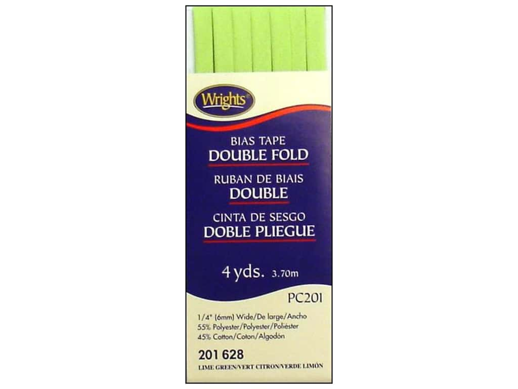 Wrights Double Fold Bias Tape 4 yd. Lime Green