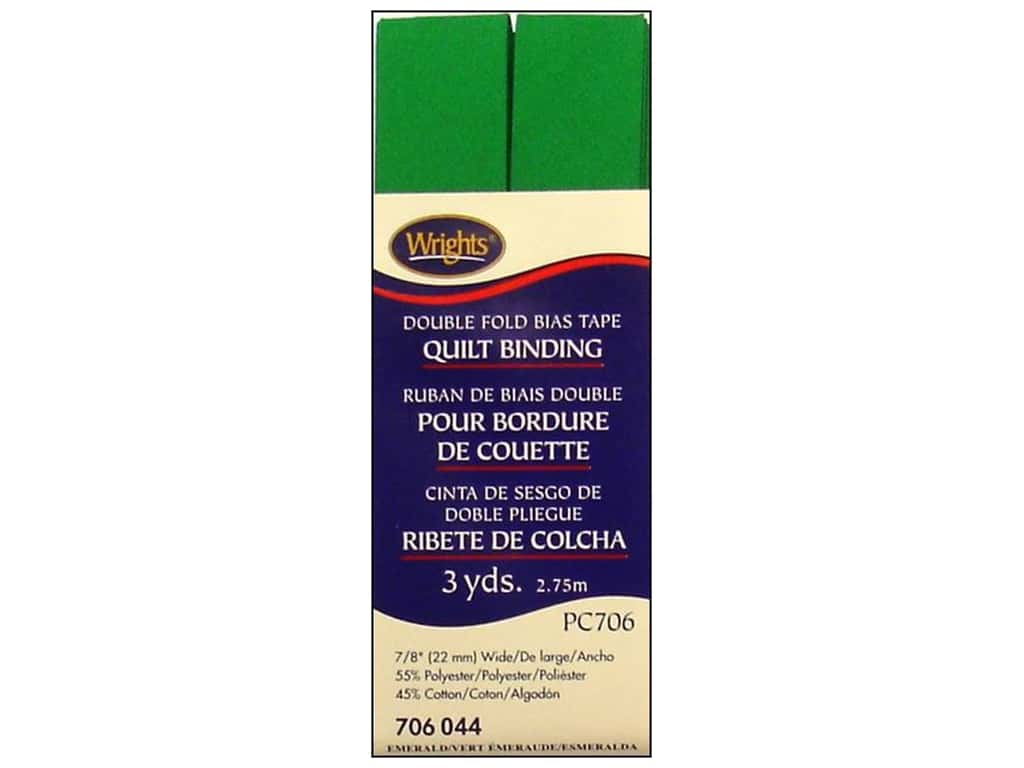 Wrights Double Fold Quilt Binding 3 yd. Emerald