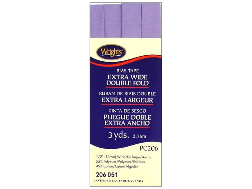 Wrights Extra Wide Double Fold Bias Tape 3 yd. Lavender
