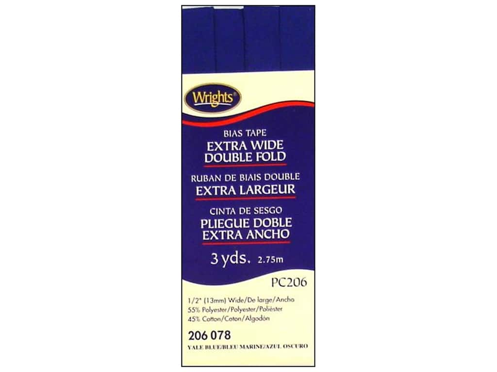 Wrights Extra Wide Double Fold Bias Tape 3 yd. Yale