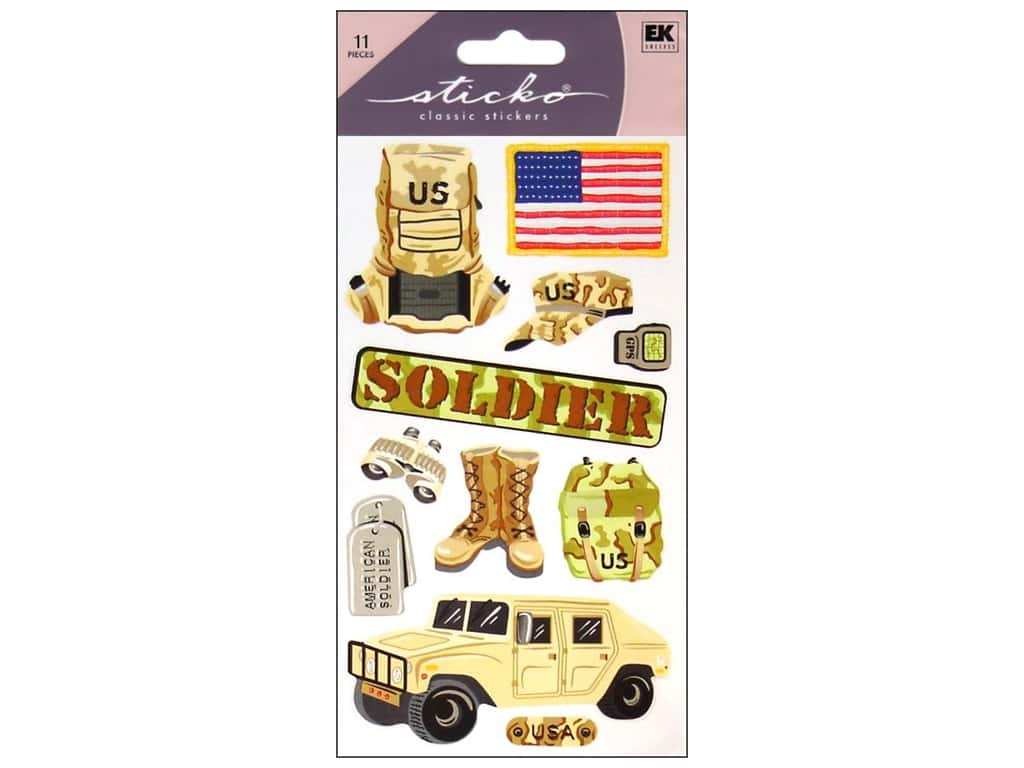 EK Sticko Stickers US Soldier
