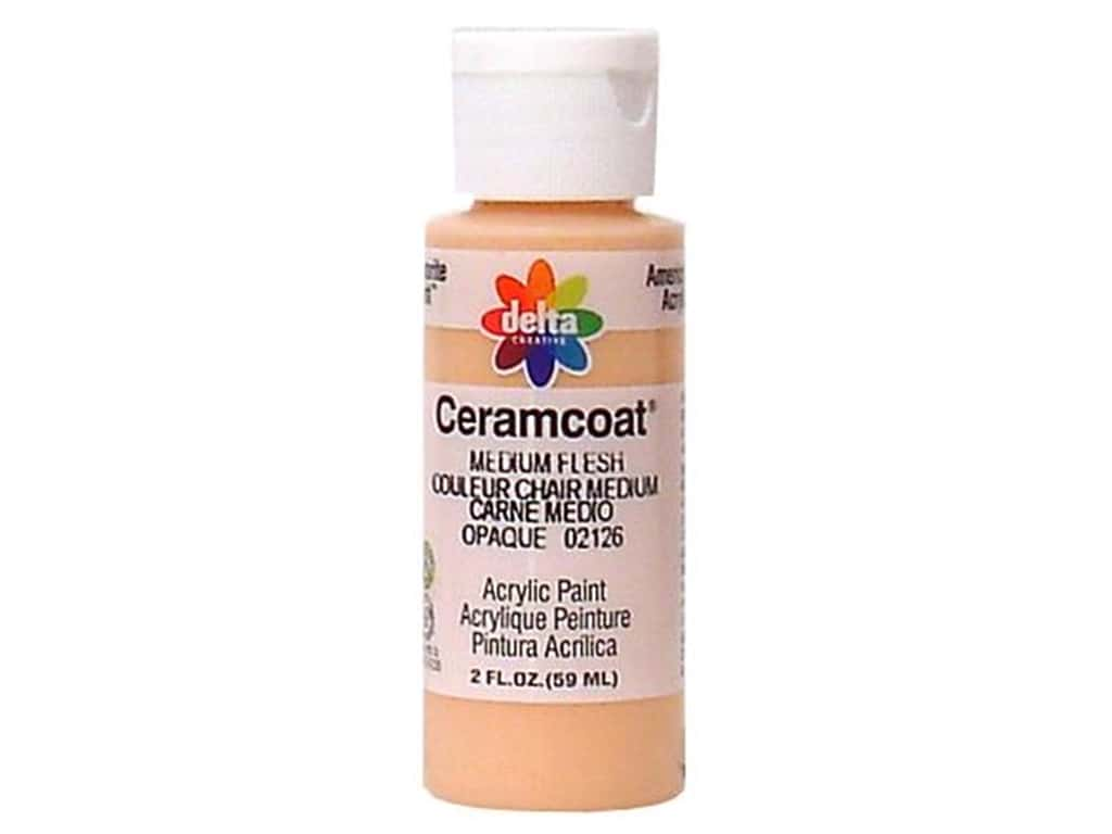 Delta Ceramcoat Acrylic Paint - #2126 Medium Flesh 2 oz.