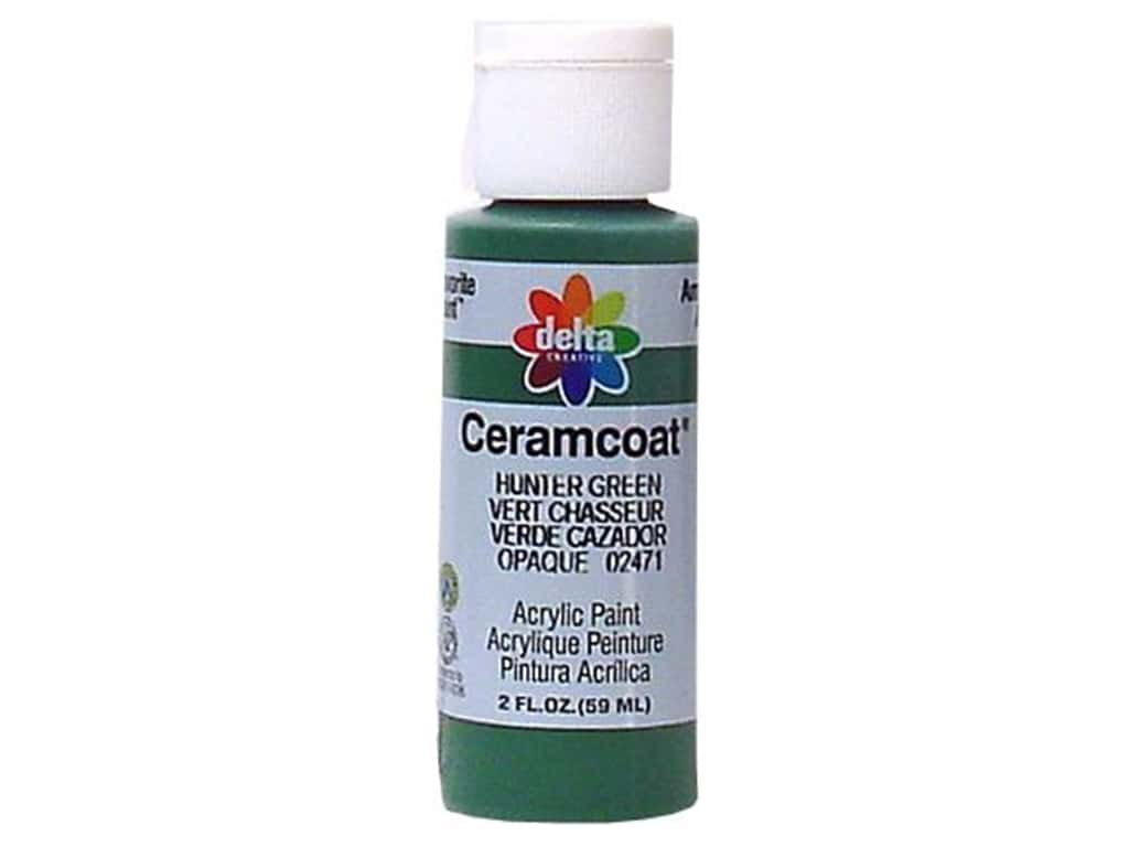 Delta Ceramcoat Acrylic Paint 2 oz. #2471 Hunter Green