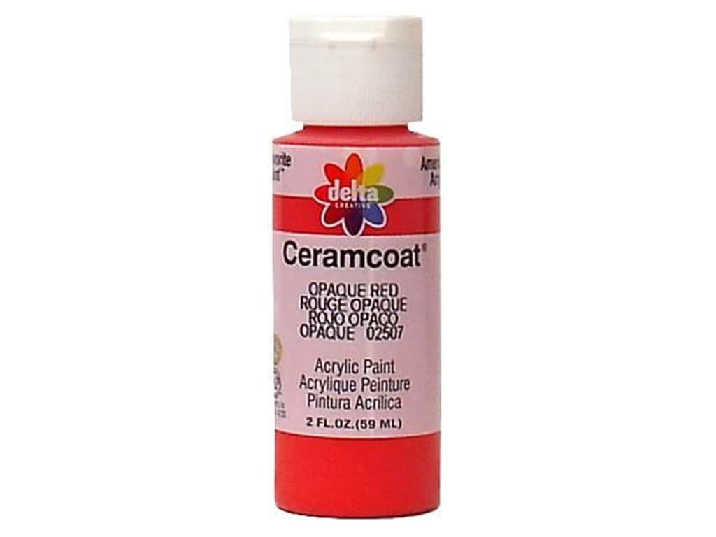 Delta Ceramcoat Acrylic Paint 2 oz. #2507 Opaque-Red