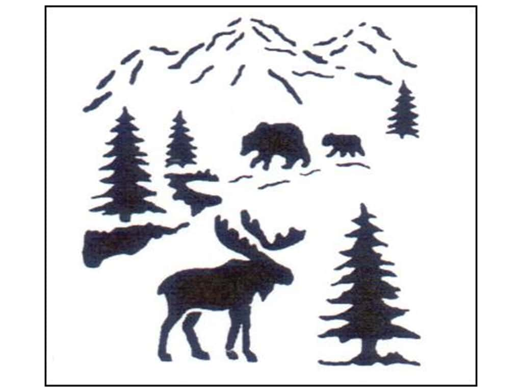 StenSource Painting Stencil 5 in. Small Northwoods