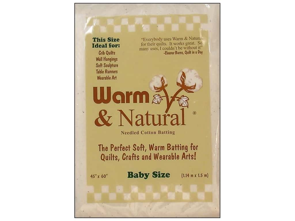 The Warm Company Warm & Natural Cotton Batting Baby 45 x 60 in.